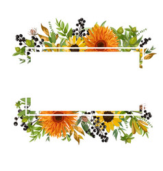 Floral design horizontal card design gerbera vector
