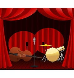 stage for Jazz show vector image vector image