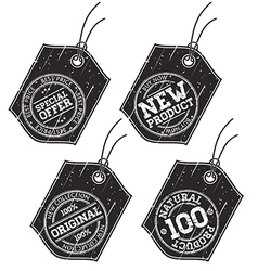 Stamp sale tags vector image vector image