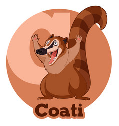 abc cartoon coati vector image vector image