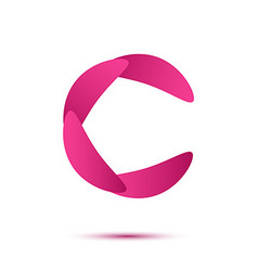 C letter logo claw shape vector