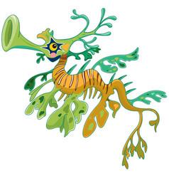 dragon seahorse vector image vector image