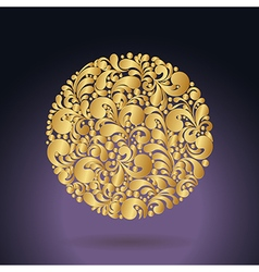 golden curves circle1 vector image vector image