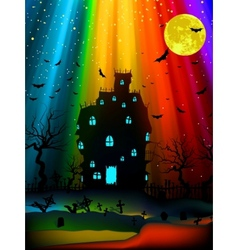 Halloween old mansion eps 8 vector
