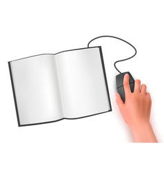 Hand computer mouse vector image