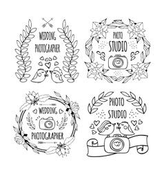 logo photography vector image