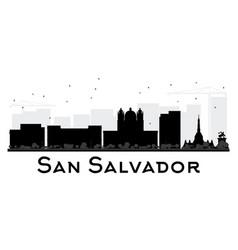 san salvador city skyline black and white vector image vector image