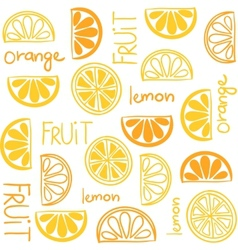 Citrus fruit seamless pattern vector image vector image