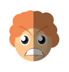 emoticon angry cartoon design vector image