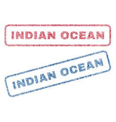 Indian ocean textile stamps vector