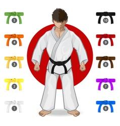 KARATE Martial Art Belt Rank System vector image vector image