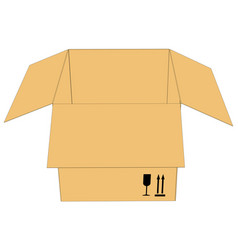 Open carboard box vector
