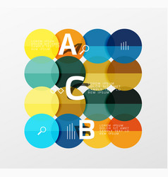 round modern circle option infographic diagram vector image