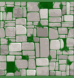 seamless background texture grey stone on grass vector image vector image