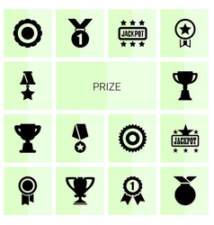 14 prize icons vector