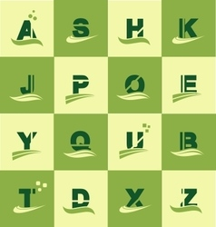 Alphabet logo icon set letter vector image
