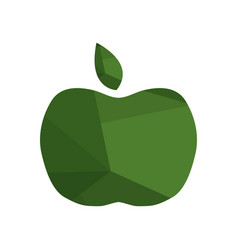 apple icon on white background vector image vector image