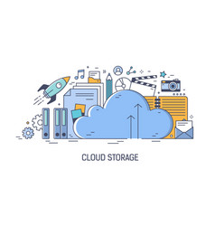 banner template for advertising cloud computing vector image