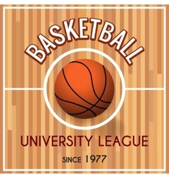 Basketball college or university league poster vector