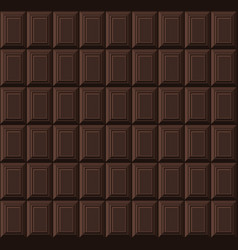 black chocolate bar seamless background pattern vector image