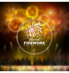 Bllured holiday firework background vector