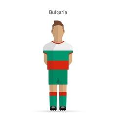 Bulgaria football player Soccer uniform vector image