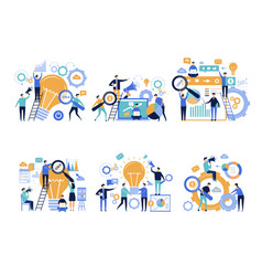business people office managers promoting and vector image