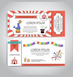 Circus tickets design vector
