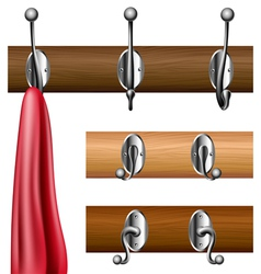 Coat rack set vector