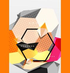 color 3d geometric composition poster vector image