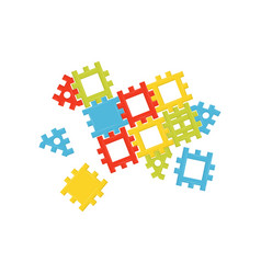 Colorful plastic constructor educational toy for vector