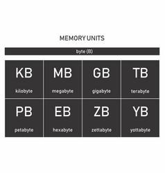 Computer memory units vector