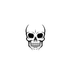 creative skeleton skull logo design vector image