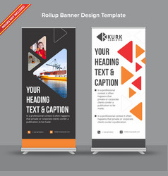 Dark grey and white geometrical rollup banner vector
