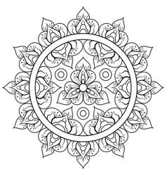 decorative ethnic mandala pattern anti-stress vector image