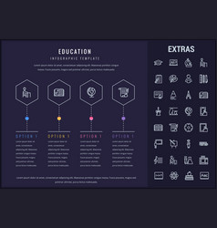 Education infographic template elements and icons vector