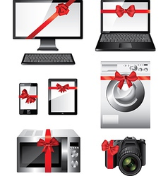 electronic devices presents vector image