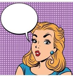 Emoji retro girl emoticons vector image