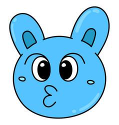 Emoticon head cute creature expression pouting vector