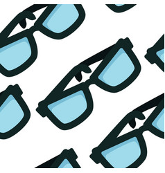 eyeglasses seamless pattern accessory eyewear vector image