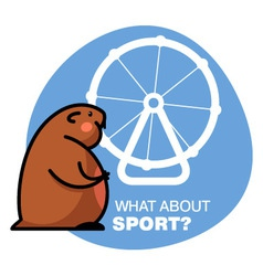 Fat hamster vector image