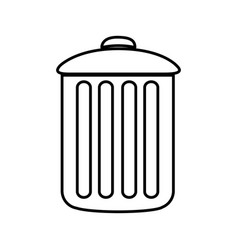 Figure can trash icon vector