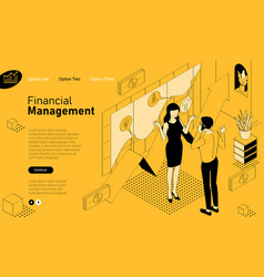 financial consultations mobile app template vector image