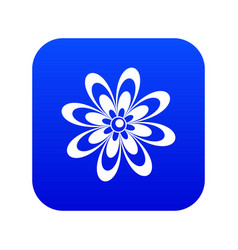 flower icon digital blue vector image