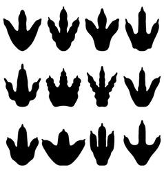 footprints dinosaurs vector image