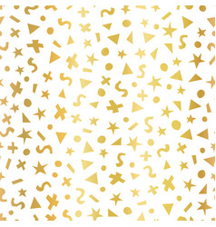 Geometric gold foil shapes seamless pattern vector