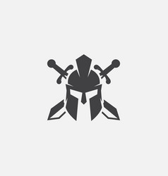 gladiator helmet spartan helm icon vector image