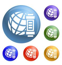 global energy icons set vector image