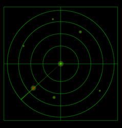 Green radar in search mode vector