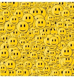 Happy face background vector